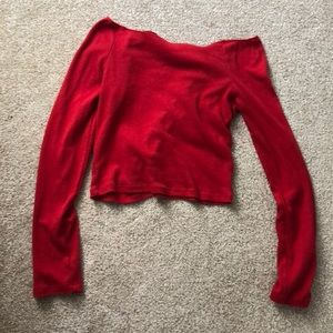 Red crop top size small or extra small
